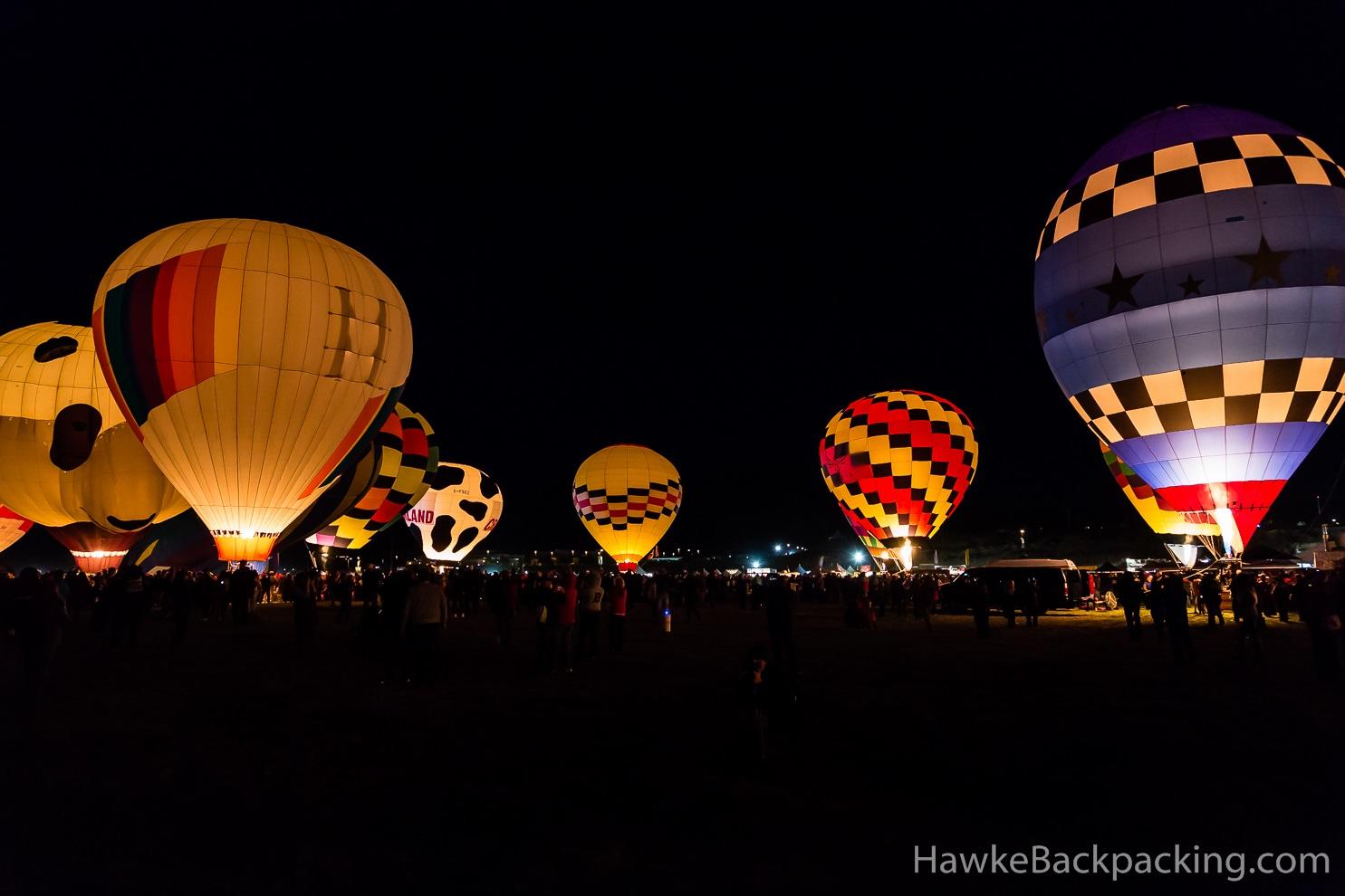 Balloon Glows Albuquerque International Balloon Fiesta