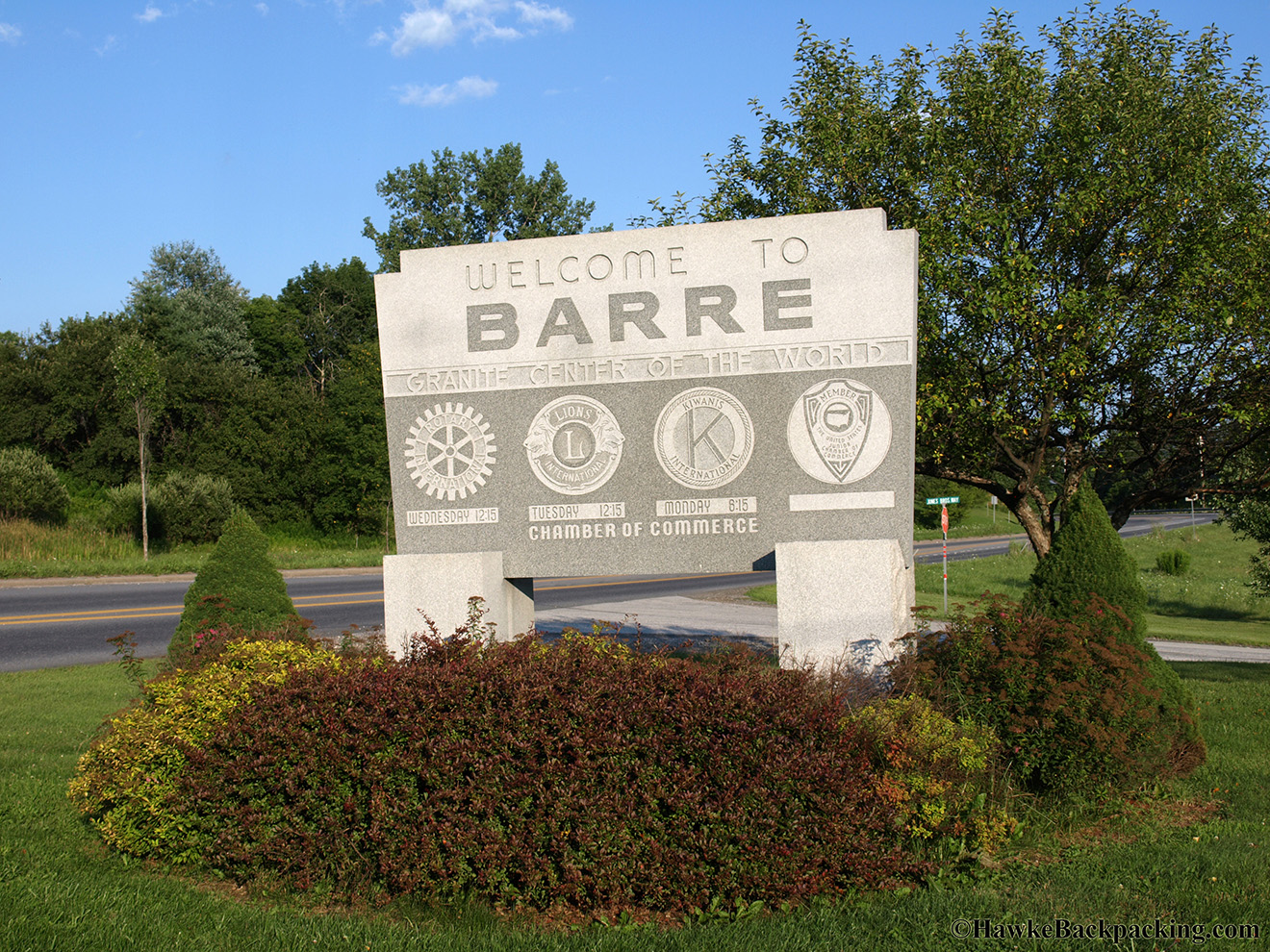 Barre (VT) United States  city photo : Barre HawkeBackpacking.com